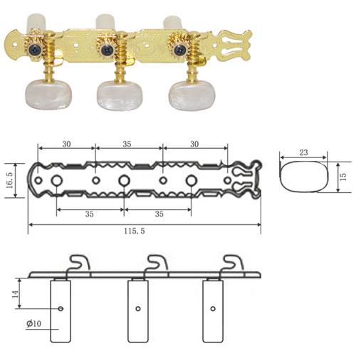 DR Parts CMH0351/GD ključ za klas gitaru gold