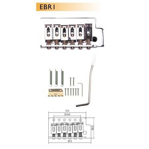 DR Parts EBR1/CR bridge set tremolo chrom strat