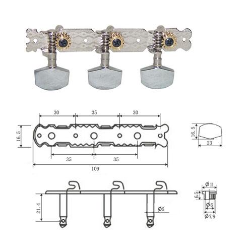 DR Parts AMH0101/CR ključevi za akust gitaru