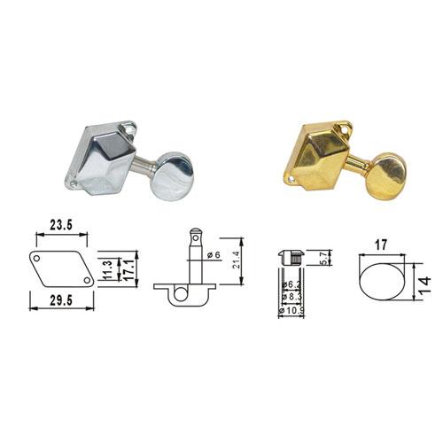 DR Parts AMH3003/CR ključevi za akust gitaru