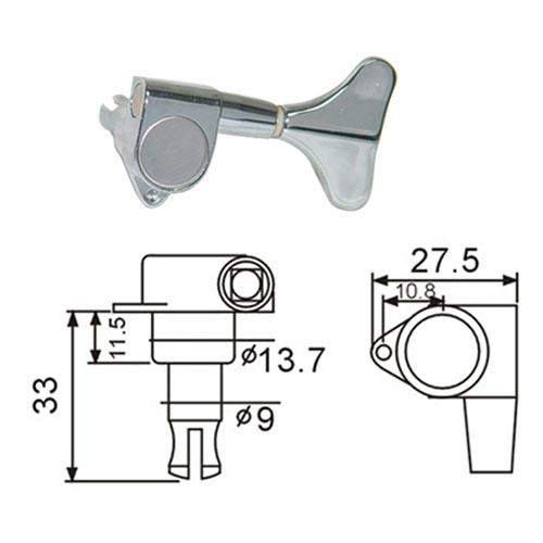 DR Parts BMH7105/CR/R4 ključevi za bas