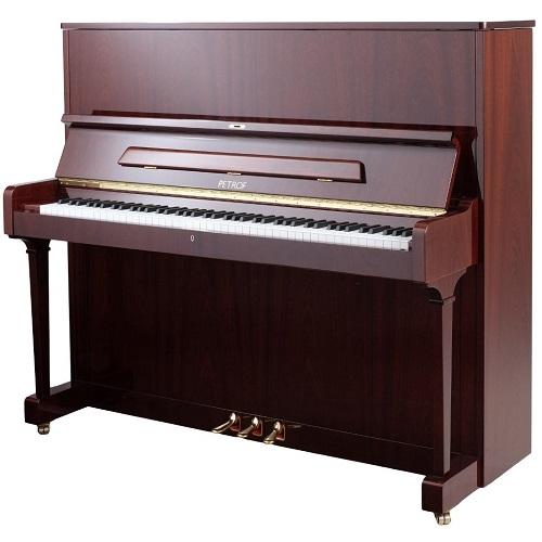 PETROF P125F1 pianino (3281 mahagonij visoki sjaj)