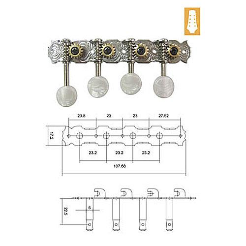 DR Parts MMH0556/CR ključevi za mandolinu