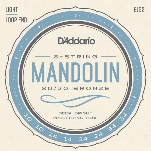 daddario EJ62 80/20 bronze žice za mandolinu