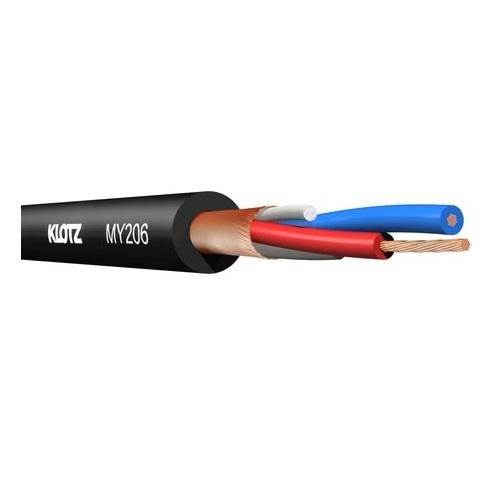 KLOTZ MY206 2x022mm mikrofonski kabel crna boja