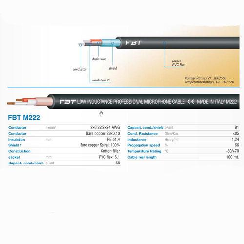 FBT M222 mikrofonski kabel