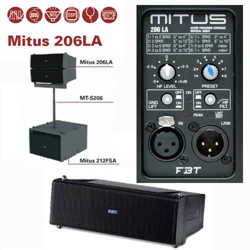 FBT MITUS 206LA 600w+300w aktivni zvučnik