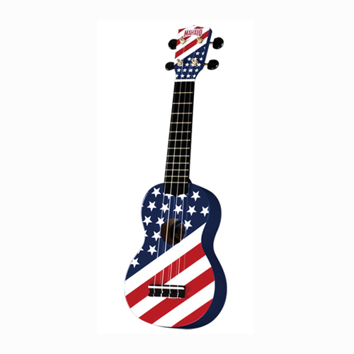 MAHALO U/USA ukulele/hawaii gitara set