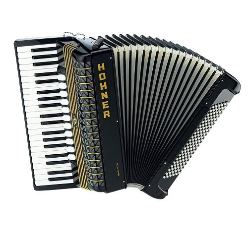 HOHNER ATLANTIC IV 120 black harmonika 120 basova