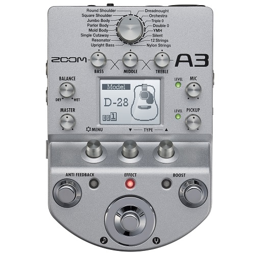 ZOOM A3 predpojačalo i efekat za akust.gitaru
