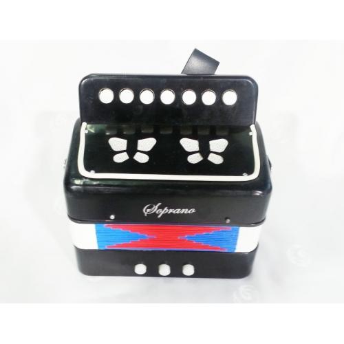 Soprano Harmonika (meldeon) dječija ST214BK (boje crna/plava/crvena) 2B-7K