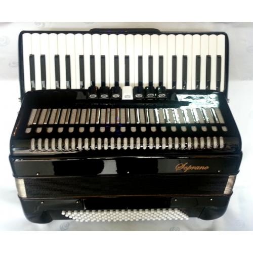 Soprano Harmonika 120 basova 41K crna boja (DC-309BK)