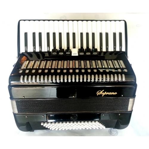 Soprano Harmonika 96 basova 37K crna boja (DC-308BK)