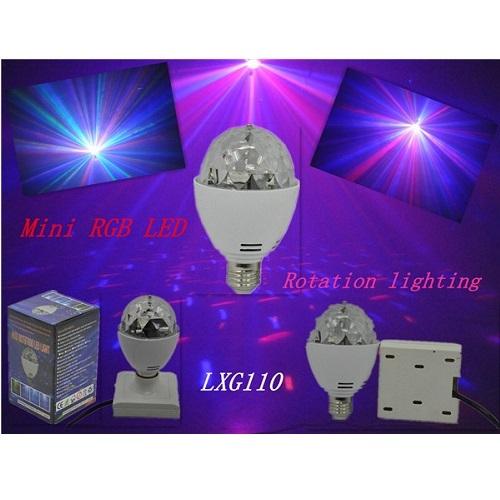SAR LED LXG110 LED RGB rotirajuća sijalica 2x1w,E27
