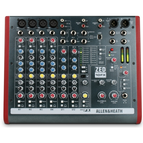 Allen & Heath ZED 10FX audio mikseta