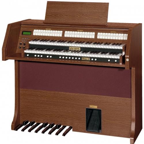 Viscount VIVACE 20 DARK OAK ,2-manuala,13 note pedale,210watti -  klasične orgulje