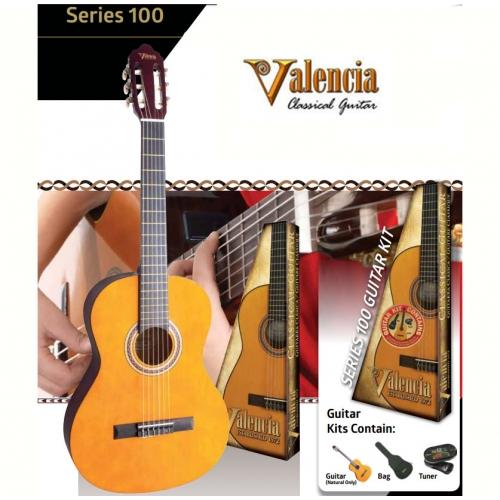 Valencia Klasična gitara SET VC104K veličina 4/4 - natural boja