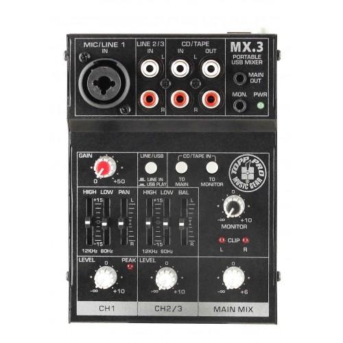 TOPP PRO MX3 audio mikseta