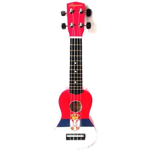 Soprano ukulele UK-51SF 51cm (zastava Srbije) sa torbom