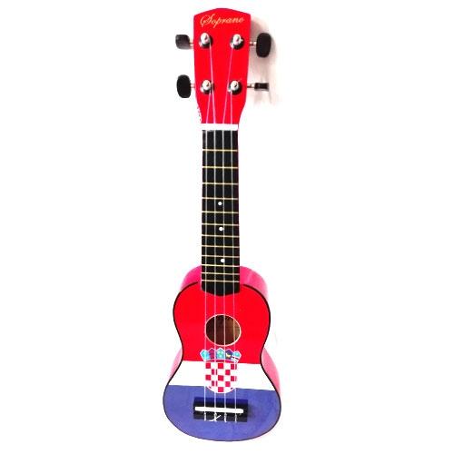 Soprano ukulele UK-51CF 51cm (zastava Hrvatske) sa torbom