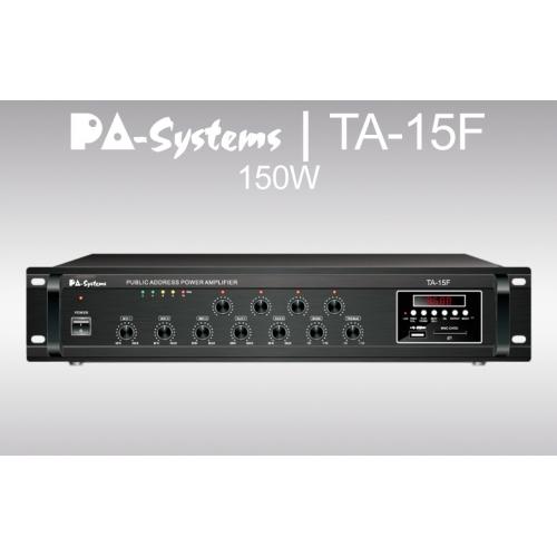 SAR PA-Systems TA-15F, 100V 150W pojačalo sa FM tunerom i USB playerom