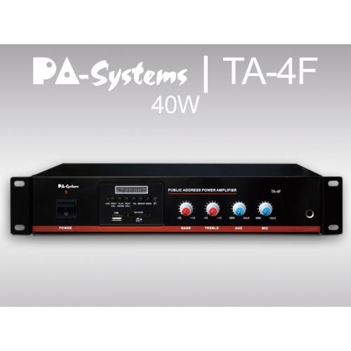 SAR PA-Systems TA-4F, 100V 40W pojačalo sa FM tunerom i USB playerom