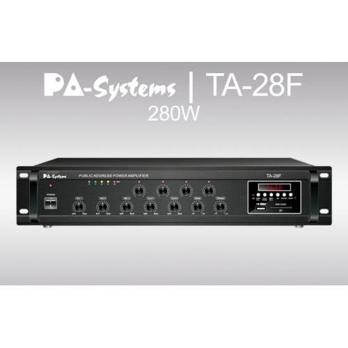 SAR PA-Systems TA-28F, 100V 280W pojačalo sa FM Tunerom i USB playerom