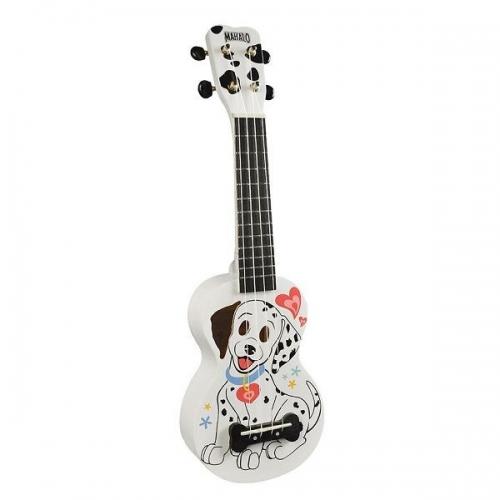 MAHALO MA1DAWT DALMATINER WHITE - ukulele