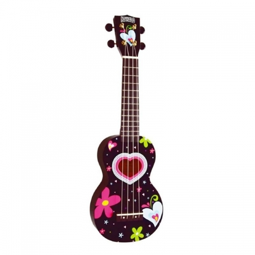 MAHALO MA1HEBK HEART BLACK - ukulele