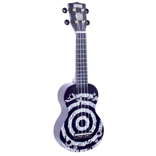 MAHALO MD1TABK TARGET black - ukulele