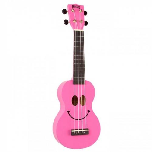 MAHALO U-SMILE-PK pink ukulele/hawaii gitara set