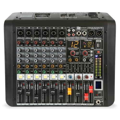 Power Dynamic PDMM604A 6Ch. MP3/DFX/BT 2x200watt aktivna audio mikseta