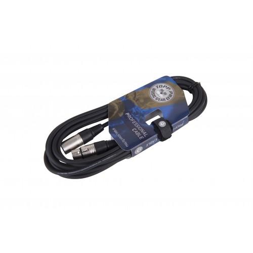 TOPP PRO MC01LU10 - XLRm - XLRf 10m mikrofonski kabel
