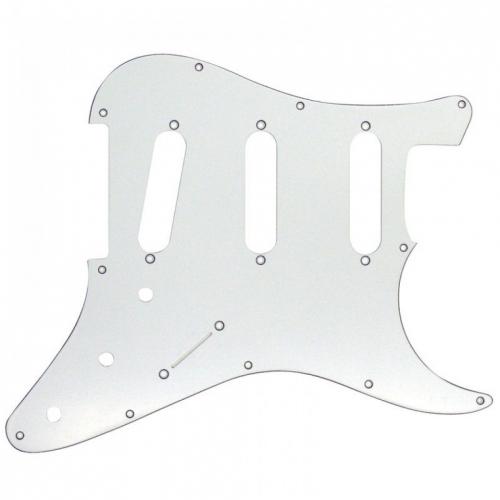 JHS Guitar TECH GT553 SSS pickguard SP1STW 11 hole white