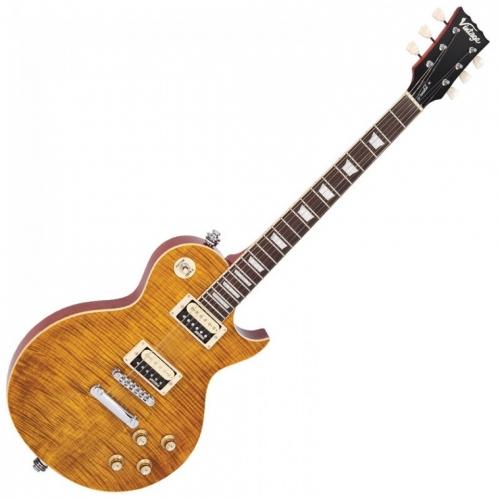 VINTAGE V100AFD - CHROME HW - PARADISE FLAMED MAPLE  LP električna gitara