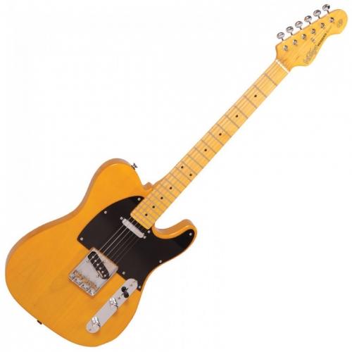 VINTAGE V52BS - CHROME HW - BUTTERSCOTCH TELE električna gitara