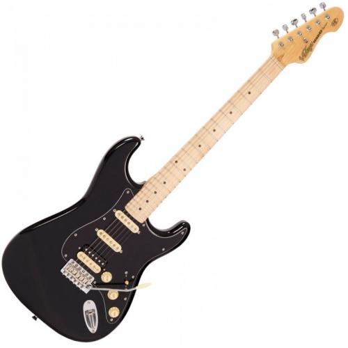 VINTAGE V6HMBB - CHROME HW - HSS - BOULEVARD BLACK električna gitara