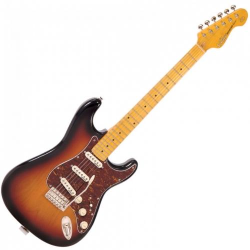 VINTAGE V6MSSB - CHROME HW - MN - SSS - SUNSET SUNBURST električna gitara