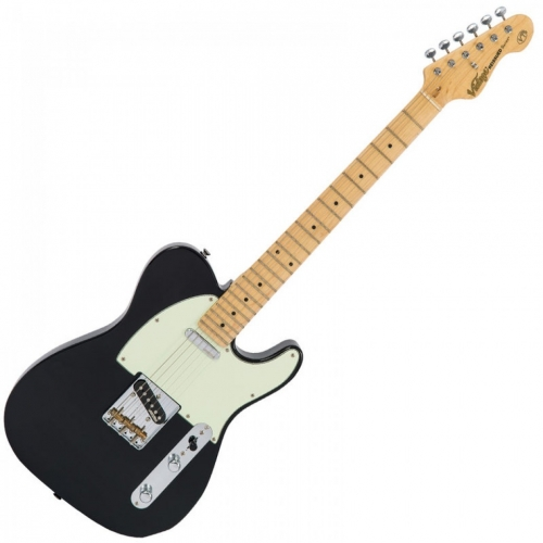 VINTAGE V75BK - CHROME HW - MN - GLOSS BLACK TELE električna gitara