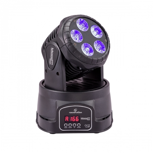 SOUNDSATION - MOOD 185 WASH Wash Moving Head with 5x18W RGBWA+UV 6IN1 LEDs