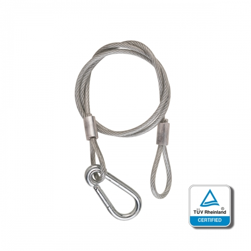 SOUNDSATION - LW4-76A Safety Cable, 76 cm length, 100 kg safety working load