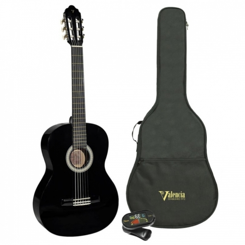 Valencia Klasična gitara SET VC104KBK veličina 4/4 - crna boja