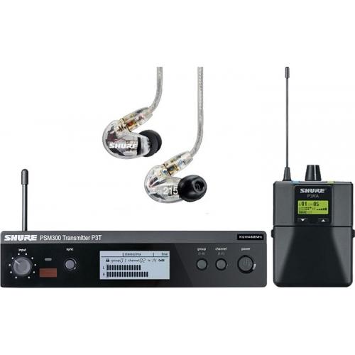 SHURE PSM-300 PRO sa SE215-H20 slušalicama in ear monitoring