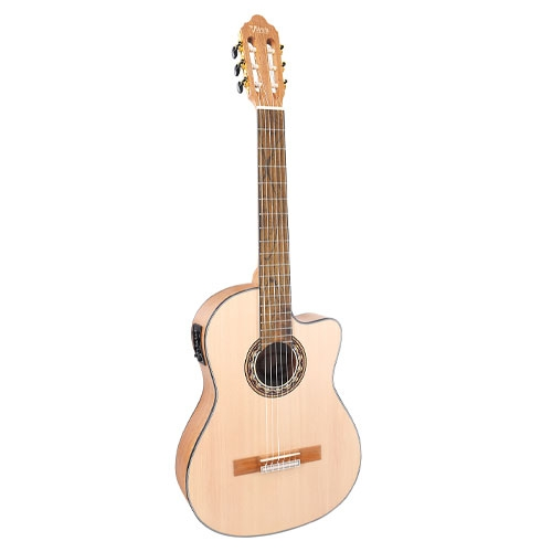 Valencia Klasična gitara VC304CE DELUXE sa futrolom ozvučena natural satin