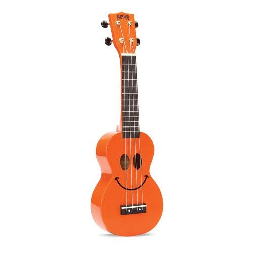 MAHALO U-SMILE-OR orange ukulele/hawaii gitara set