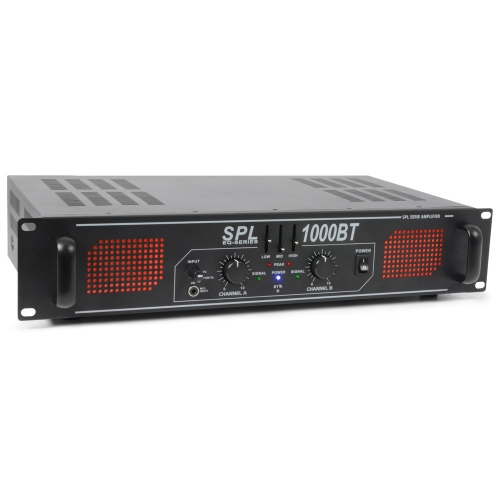 SkyTec SPL1000BT 2x1000watt audio pojačalo sa bluetooth konekcijom