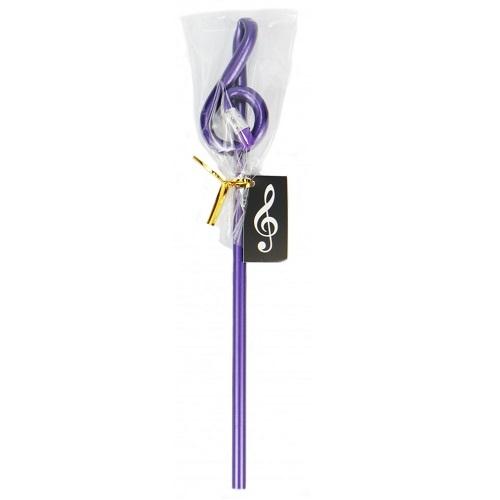 AGIFTY B 1022 Pencil g-clef purple (L: 24 cm) - olovka