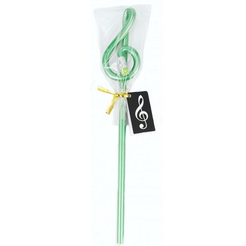 AGIFTY B 1025 Pencil g-clef green (L: 24 cm) - olovka