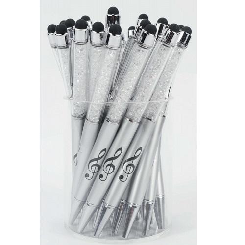 AGIFTY B 2002 Stylus Pen g-clef silver/crystal - olovka