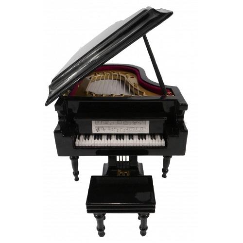 AGIFTY I 1037 Grand piano with gift case black 10*8 cm - mini ukrasni instrument